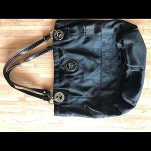 Black Coach Bucket Purse